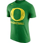 Nike Men's Oregon Ducks Apple Green Basketball Tri-Blend T-Shirt