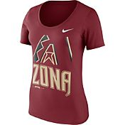 Nike Women's Arizona Diamondbacks Red Scoop Neck T-Shirt
