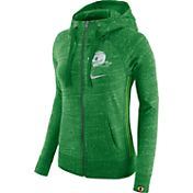 Nike Women's Oregon Ducks Apple Green Vintage Full-Zip Hoodie