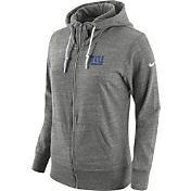 Nike Women's New York Giants Tailgate Vintage Grey Full-Zip Hoodie