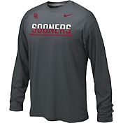 Nike Youth Oklahoma Sooners Anthracite Staff Sideline Long Sleeve Shirt