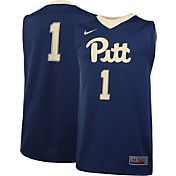Nike Youth Pitt Panthers #1 Blue Replica ELITE Basketball Jersey