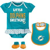 NFL Team Apparel Infant Miami Dolphins Bib & Booty Set