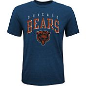 NFL Team Apparel Youth Chicago Bears Wheels Tri-Blend T-Shirt