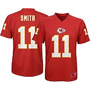 NFL Team Apparel Youth Kansas City Chiefs Alex Smith #11 Red T-Shirt