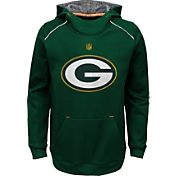 NFL Team Apparel Youth Green Bay Packers Pinnacle Green Performance Hoodie