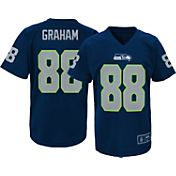NFL Team Apparel Youth Seattle Seahawks Jimmy Graham #88 Navy T-Shirt