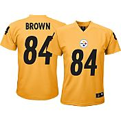 NFL Team Apparel Youth Pittsburgh Steelers Antonio Brown #84 Gold T-Shirt