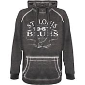 Old Time Hockey Men's St. Louis Blues Emblem Black Hoodie