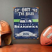 Party Animal Seattle Seahawks Embossed Metal Sign