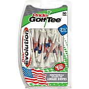"Pride Sports Evolution U.S.A. Flag 3.25"" Golf Tees – 30-Pack"