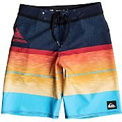 Quiksilver Boys' Slab Logo Vee Board Shorts