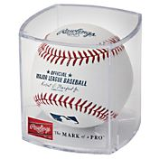 Rawlings MLB Official Game Baseball w/ Display Case