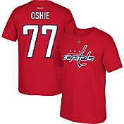 Reebok Men's Washington Capitals T.J. Oshie #77 Replica Red Player T-Shirt