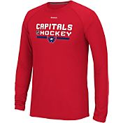 Reebok Men's Washington Capitals Center Ice Locker Room Red Long Sleeve T-Shirt
