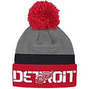 Reebok Men's Detroit Red Wings Center Ice Cuffed Pom Knit Hat