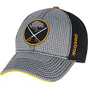 Reebok Men's Buffalo Sabres Center Ice Two-Tone Grey/Black Structured Flex Hat