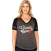 Soft As A Grape Women's San Francisco Giants V-Neck Shirt