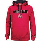 Scarlet & Gray Men's Ohio State Buckeyes Scarlet Tribute Fleece Hoodie