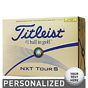 Titleist NXT Tour S Yellow Personalized Golf Balls