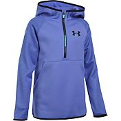 Under Armour Girls' Armour Fleece Printed Half Zip Jacket