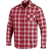 Under Armour Men's Maryland Terrapins Red Plaid Status Button Down Shirt