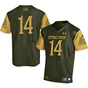 Under Armour Men's Notre Dame Fighting Irish Green #14 Shamrock Series Jersey