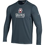 Under Armour Men's Southern Illinois  Salukis Raid Performance Long Sleeve Grey T-Shirt
