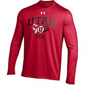 Under Armour Men's Utah Utes Crimson Long Sleeve Tech T-Shirt