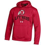 Under Armour Men's Utah Utes Armour Fleece Red Hoodie