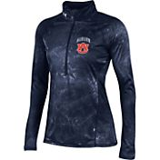Under Armour Women's Auburn Tigers Blue Fusion UA Tech Half-Zip Shirt
