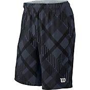 Wilson Men's Stretch Woven 9'' Plaid Tennis Shorts