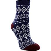 Yaktrax Women's Cozy Cabin Diamond Nordic Crew Socks