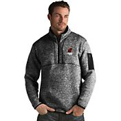 Antigua Men's Miami Heat Fortune Black Half-Zip Pullover