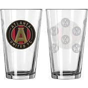 Boelter Atlanta  United 16oz. Satin Etched Pint Glass
