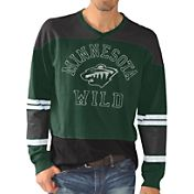 G-III Men's Minnesota Wild Slub Jersey Green Long Sleeve T-Shirt