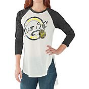 G-III for Her Women's Columbus Crew Tailgate Three Quarter Sleeve Vintage White T-Shirt