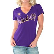 G-III For Her Women's Orlando City Homefield Purple Slub T-Shirt