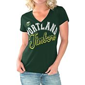 G-III For Her Women's Portland Timbers Homefield Green Slub T-Shirt