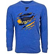 Levelwear Men's St. Louis Blues Ripped Logo Royal T-Shirt