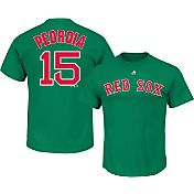Majestic Men's Boston Red Sox Dustin Pedroia #15 Green T-Shirt