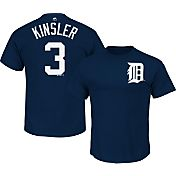 Majestic Men's Detroit Tigers Ian Kinsler #3 Navy T-Shirt