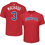 Majestic Men's 2017 WBC Dominican Republic Manny Machado #3 Red T-Shirt
