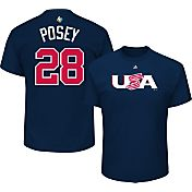 Majestic Men's 2017 WBC USA Buster Posey #28 Navy T-Shirt