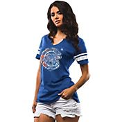 Majestic Women's Chicago Cubs Royal Notch Neck T-Shirt
