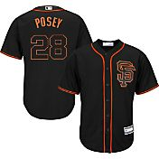 Majestic Youth Replica San Francisco Giants Buster Posey #28 Cool Base Alternate Black Jersey