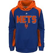 Majestic Youth New York Mets Therma Base Geo Fuse Royal Hooded Fleece