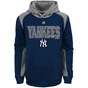 Majestic Youth New York Yankees Therma Base Geo Fuse Navy Hooded Fleece