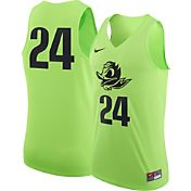 Nike Men's Oregon Ducks #24 Electric Green Authentic Basketball Jersey