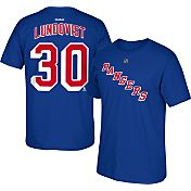 Reebok Men's New York Rangers Henrik Lundqvist #30 Player Royal T-Shirt